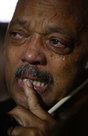 Jesse Jackson crying